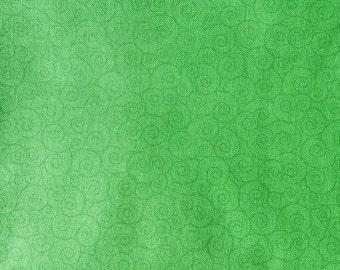 Spring green tonal swirl fabric