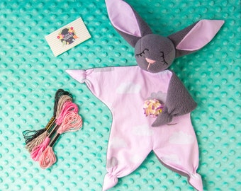 gray fleece Bunny for your baby (FREE shipping)