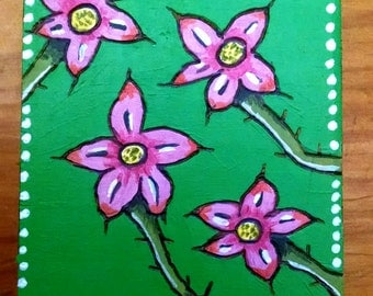 Pink & Green Flowers