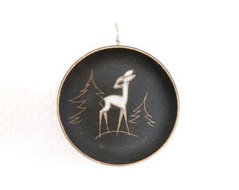 Small Ruscha plate Bambi plate 50s wall plate