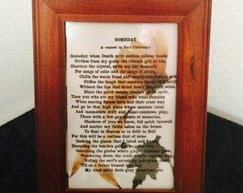Framed daisy art w/poem