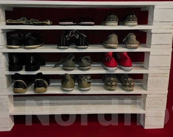 Pallet furniture shoe rack No.. 7