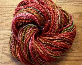 Handspun Yarn/2-ply Aran Weight/142 Yards/8wpi/Merino Wool