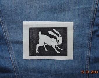 Rabbit Handmade Printed Patch