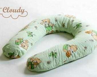 Maternity PILLOW WITH CASE Nursing pillow Feeding Breastfeeding pillow Baby U shape pillow  Baby shower gift Favor Present Gift for kids