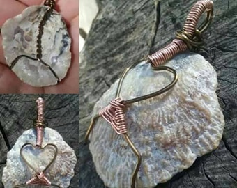 Seashell Heart Pendant
