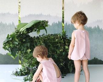 The Joan Twin Set in Dusty Pink
