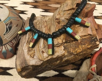 Southwest Native American Indian Handmade Stone Bead Necklace