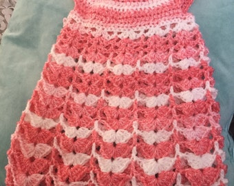 Crochet Handmade Acrylic Baby Girl Dress