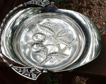 Pairpoint Antique Silver Plate Fruit Bowl