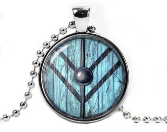 Vikings Lagertha Shield Necklace Fandom Jewelry Necklace Pendant Shield Maiden Fangirl Fanboy