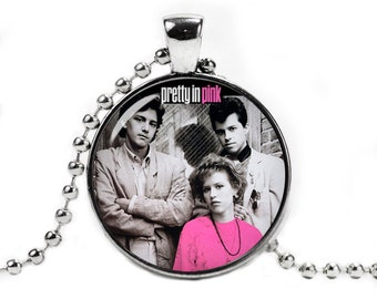 Pretty in Pink Necklace Pendant Fandom Jewelry Fangirl Fanboy