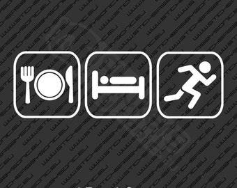 Eat Sleep Run sticker decal running sport