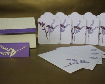 Handmade Set of 5 cards and matching envelopes notelet set
