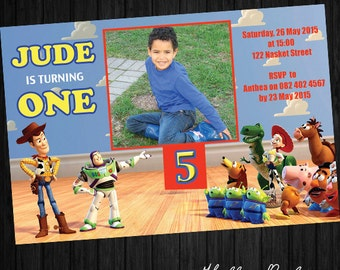 Toy Story party invitation