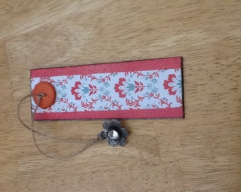 "5.25"" Handmade bookmark with embellishments"