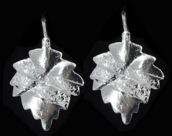 Arete in lisa/diamond silver, leaf design