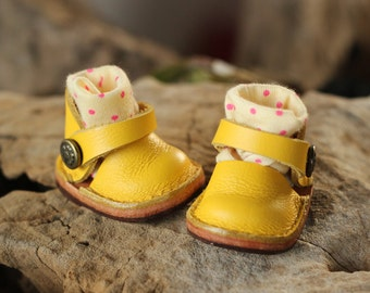 Mary Jane shoes for Kikipop Color Yellow