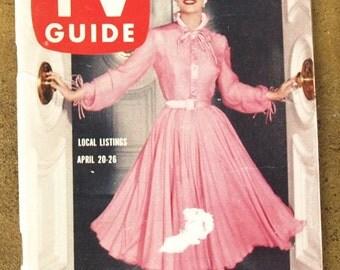 1957 Vintage TV Guide Dallas Fort Worth Loretta Young