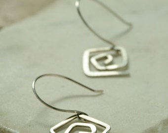 Heliopsis Earrings *  Sterling Silver Hand Wrought Artisan Earrings