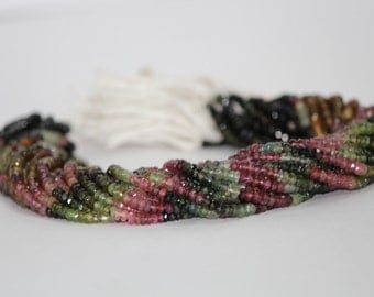 Tourmaline Multi Faceted Beads