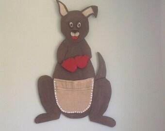 Kangaroo-shaped wall hook / Kangaroo wall hook