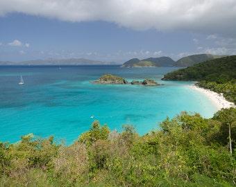 Caribbean Island Bay Photo Digital Download