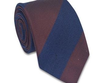 25% OFF TIE SALE! Navy and brown Necktie