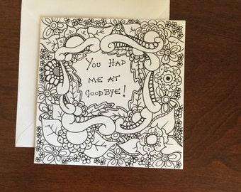At good-bye