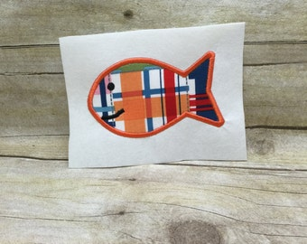 Fish Applique, SIngle Fish Applique