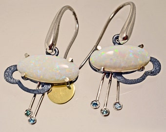 "Earrings ""soon the sun comes out""."