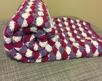 Shell Style Crocheted Baby Blanket
