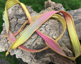 Hand Dyed Silk Ribbon 9