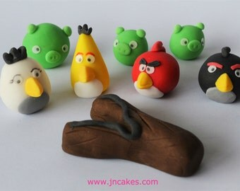 personalised edible cake decoration ANGRY BIRDS cake toppers edible personalised decoration