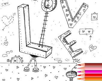 Coloring Page Love Adult Pages Printable For Adults
