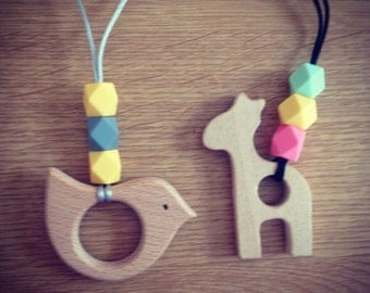 Handmade fiddle / teething necklace