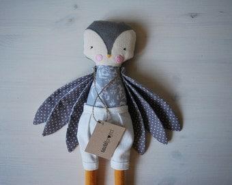 Gray bird, 38cm