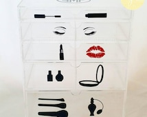 Unique Makeup Storage Related Items Etsy