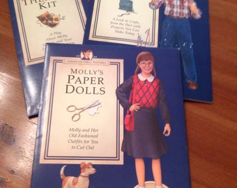 American Girls Molly Paper Doll Set