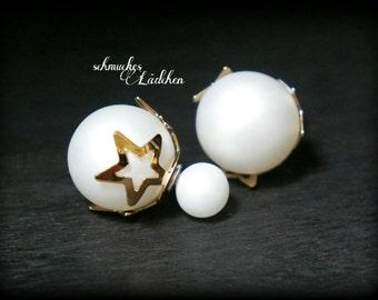 White Pearl Earrings DoppelPerlen