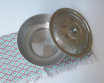 Hammered Aluminum Serving Dish