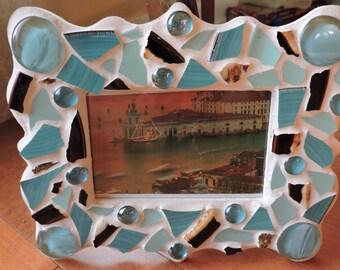 Upcycled Mosaic Frame