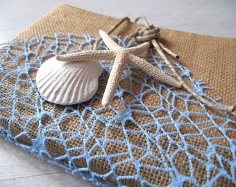 Guestbook Beach Style-Wedding guest Signatures Maritime style Book