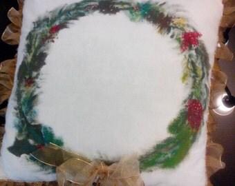 Wreath pillow
