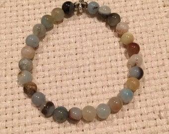 Stretch Bracelet - Multi Colored Amazonite