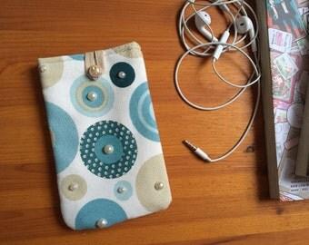 "Smartphone pouch ""Pointillé"" 15 x 9 cm soft inside - smartphone case, smartphone cover or smartphone sleeve"