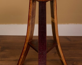 1021 Handcrafted Wine Stave Barrel Stools