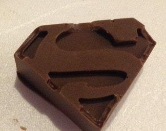 Chocolate Cupcake Topper Superman
