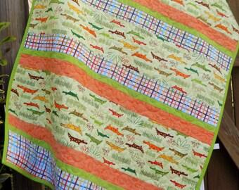 alligator bedding | etsy