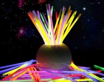 100pcs Multi Color ritium glow in dark party lights brancelets glowsticks wedding decoration flashing led toys